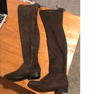 Thigh high/ over the knee suede boots